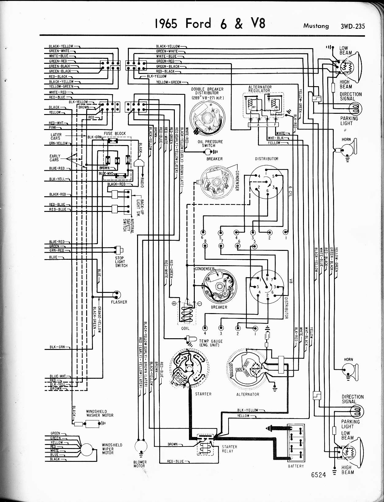 mustang wiring image wiring diagram note on technical information ab automotive on 1965 mustang wiring