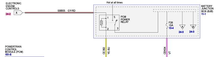 PCM power relay
